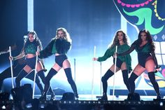 Jesy Nelson Photos - Little Mix perform on stage during the BRIT Awards 2016 at The Arena on February 2016 in London, England. - Brit Awards 2016 - Show Jesy Nelson, Perrie Edwards, First Girl, My Girl, Little Mix Jessie, Little Mix Brits, Brit Awards 2016, Mix Photo, Girl Bands