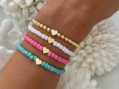 Beaded Jewelry Designs, Diy Crafts Jewelry, Bracelet Crafts, Handmade Jewelry Bracelets, Cute Jewelry, Pony Bead Bracelets, Diy Bracelets Easy, Beaded Wrap Bracelets, Bracelet Patterns