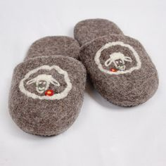 Very comfy and warm, leather soles are not slippery. Handmade in Romania. Felted Wool Slippers, Sheep Wool, Romania, Wool Felt, Comfy, Leather, Kids, Handmade, House