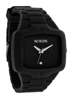 Nixon Rubber Player Watch Black - Mens
