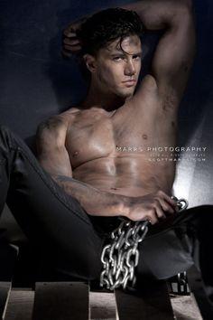Joe Putignano | © Scott Marrs ► scottmarrsphotography.com | #MaleModel #shirtless #pecs #abs #torso #armpits