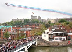 The View from Eton College of the Queens Jubilee celebration