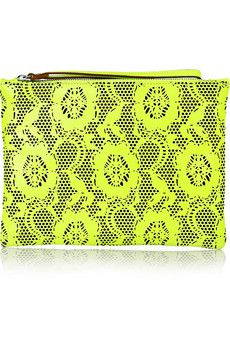 don't usually do clutches but I could make an exception for this one - Christopher Kane, laser cut leather clutch