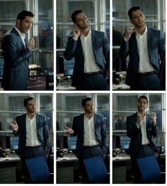 "Tom Ellis as Lucifer. Lucifer's mom: ""I heard him point fingers"""