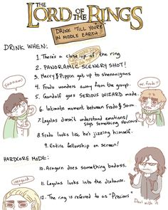 LOTR drinking game