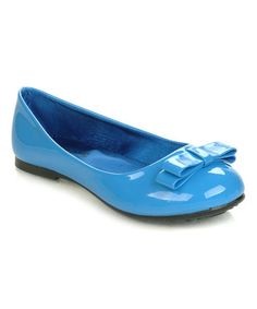 Look what I found on #zulily! Blue Bow Rosa Flat #zulilyfinds