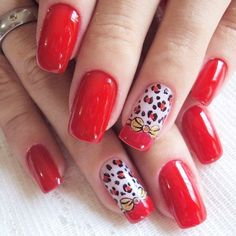 No automatic alt text available. Red Manicure, Red Nails, Luxury Nails, Four Seasons, Nail Art Designs, Bows, Inspiration, Shapes, Beauty