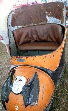 Abandoned amusement park car