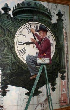 Norman Rockwell Fields clock