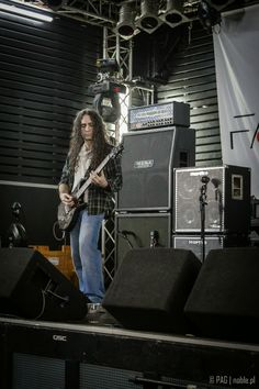 Jim Matheos of Fates Warning during the soundcheck in Berlin, Germany