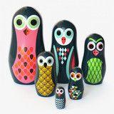Matryoshka nesting dolls van OMM Design / Pocket uilen  Sweet http://wolfenwolkje.be