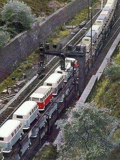 choo choo! vw transporters on a trasnsporter