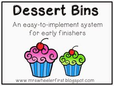 Mrs. Wheeler's First Grade Tidbits: I'm Finished, Now What?