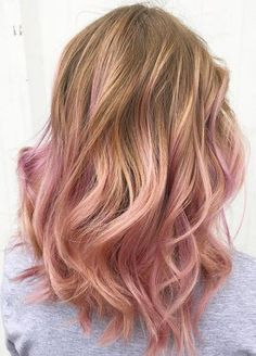 Rose Gold Ombre Hair Trend for
