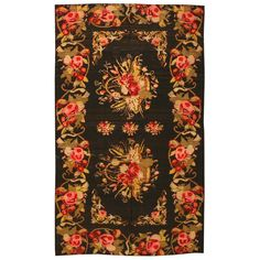 View this beautiful Antique Bessarabian Kilim 43810 from Nazmiyal's fine antique rugs and decorative carpet collection. Persian Carpet, Persian Rug, Rustic Colors, Floral Area Rugs, Magic Carpet, Weaving Art, Rug Sale, Rugs On Carpet, Sisal Carpet