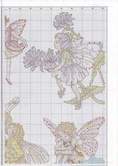 Cross stitch - fairies: Flower fairy sampler - Cicely Mary Barker (chart - part A2)