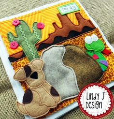 Cute little puppy Max is looking for the perfect home in this fun quiet book. Animals peek out from behind Their homes via elastic. The pattern is by LindyJ Design at Etsy.
