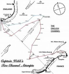 Swimming the Channel - perils and stories from Captain Webb.