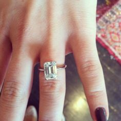Solitaire emerald cut diamond.. Different and I like it!!