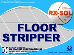 RXSOL-13-1041-005 is a superior heavy duty and highly concentrated SYNTHETIC CHEMICAL blend of detergents,alkaline salts , emulsifier and cheating agents. A new exciting product with a 3-in-one function. 	 As a floor stripper for all types of waxes and furnishes . As a degreaser where regular cleaners are unsuitable. Eli mates the need to buy and stock duplicate product .