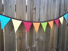 outside want!  oilcloth bunting!