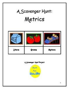 This project lists 20 items for students to locate, with the items showing metric measurement, from household items to tools.  Students also find distances between cities using metrics, as well as lengths, heights and weights of everyday objects.  Students can work independently or in groups.Supplemental and optional activities are listed for modification by grade level.