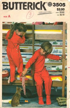 Uncut // Children's ONE-PIECE PAJAMAS Pattern by graymountaingoods