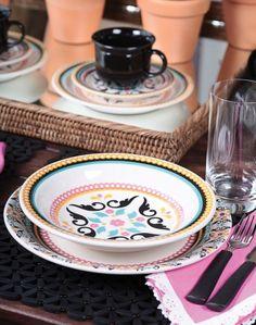Oxford Porcelanas - Floreal Luiza 20 peças