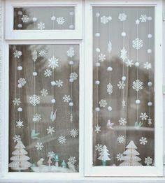 5 decoraciones navideñas para la ventana