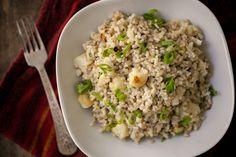 Creamy Gorgonzola Rice and Roasted Cauliflower  via naturallyella