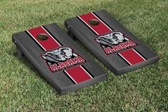 Alabama Crimson Tide Cornhole Game Set Onyx Stained Version image