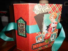 Graphic 45  Raining Cats & Dogs mini album hand made by Paola Botero