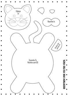 icu ~ Pin by Myriam dos Reis Cedro on DIY - Craft Felt Doll Patterns, Animal Sewing Patterns, Mug Rug Patterns, Stuffed Animal Patterns, Sewing Toys, Sewing Crafts, Sewing Projects, Felt Crafts Diy, Cat Crafts