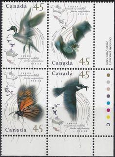 Canada-1995-Sc-1567a-034-faune-034-MNH-Migratory-Wildlife-Birds