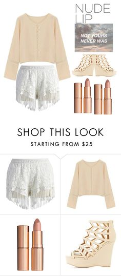 """""""NOT YOURS NEVER WAS"""" by menskah ❤ liked on Polyvore featuring beauty, Chicwish, Charlotte Tilbury, Charlotte Russe and Mon Cheri"""