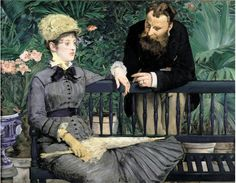 In the Conservatory (1878) / Dans la serre by Édouard Manet