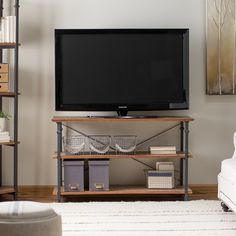 $295 Homelegance Factory TV Stand | from hayneedle.com