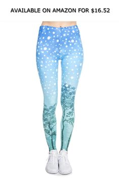 5c150cc8a427c3 Women's Christmas Style Leggings Aurora Printing Fitness Leggings Cozy High  ◇ AVAILABLE ON AMAZON FOR: