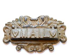 Vintage Antique Mail Letter Slot with by BUiLDiNGCHARACTER on Etsy, $120.00