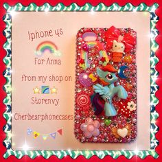 Rainbowdash iPhone 4s custom case from my shop on Storenvy-Cherbearphonecases- Check out my Instagram gallery @cchobbo to see all of my custom cases!
