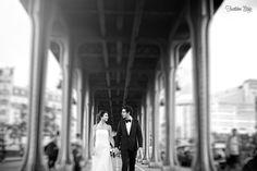 Mariage - pont de Bir Hakeim - Paris   Trentième Étage - photographe mariage