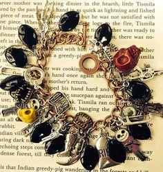 Zombie Survival bracelet gemstone Halloween by pinkflamingo61, $46.00