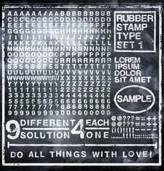 #wallpaper - Rubber Stamp, black - rebelwalls.com