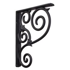 The beautiful design of intertwined scrolls and gracefully curled ends this bracket displays will not only look great underneath a shelf of memorable knick knacks, it will also serve as an elegant sup...