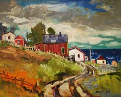 Bruno Côté Small Paintings, Landscape Paintings, Landscapes, Canadian Painters, Canadian Artists, Routes, Bruno, Drawing Flowers, Z Arts