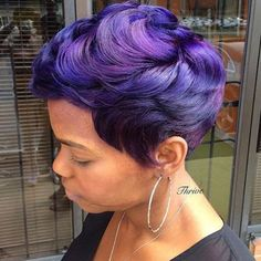 STYLIST FEATURE| #Flashback to this purple #pixie ✂️ styled by #ATLSalon…