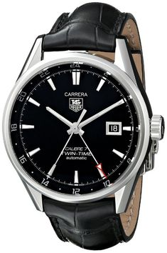 Men watches : TAG Heuer Men's WAR2010.FC6266 Carrera Analog Display Swiss Automatic Black Watch