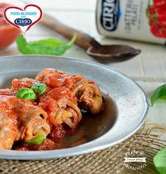 Involtini al sugo con pancetta e formaggio | Cirio @nocemoscata1  #pomodoro #ricetta #recipes #tomato #recipe #italianrecipe #involtini
