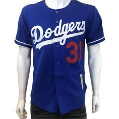 cb7c0e3f726 Mitchell   Ness - Mens - Mike Piazza 1997 Authentic MLB BF BP Jersey Los  Angeles Dodgers