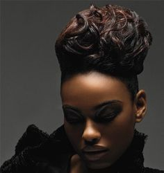 Sexy updo..great for the Holidays or the bride to be..when you walk into a room with this style..the men will be in awe and the ladies will be in envy!